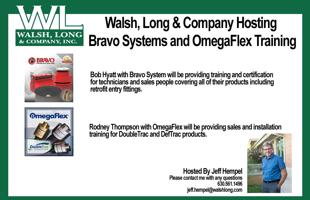 Walsh, Long & Company Hosted Bravo Systems and OmegaFlex Training