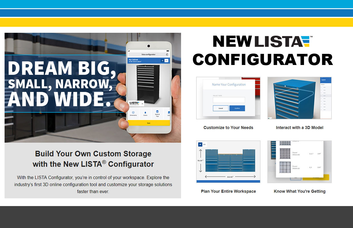 Build Your Own Custom Storage with the New LISTA® Configurator