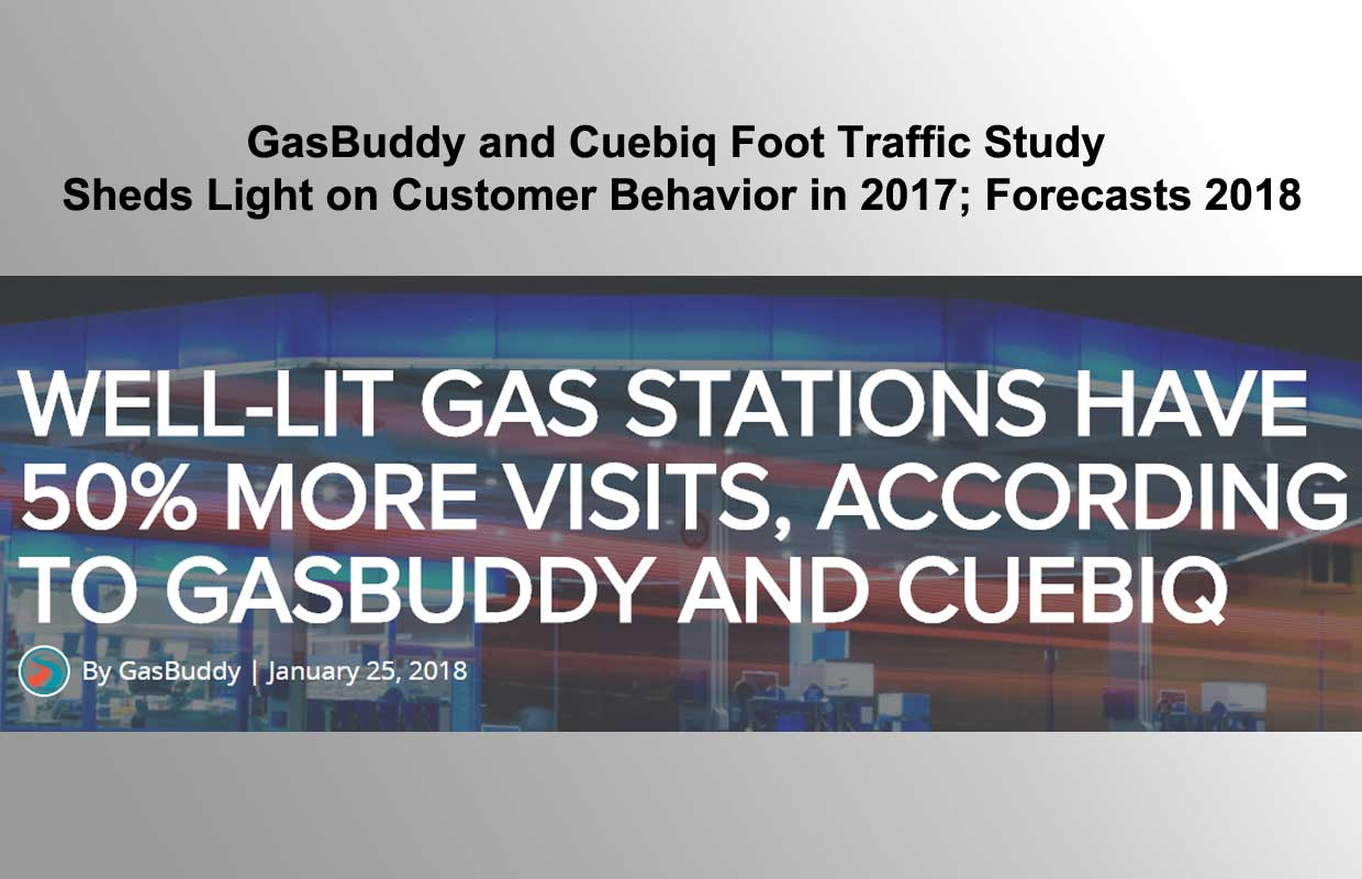 WELL-LIT GAS STATIONS HAVE 50% MORE VISITS, ACCORDING TO GASBUDDY AND CUEBIQ