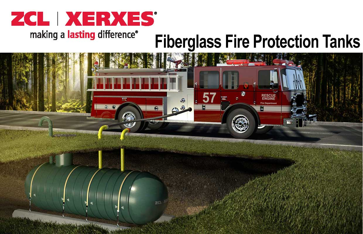 ZCL Xerxes Fiberglass Fire Protection Tanks